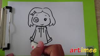 How To Draw Coraline Youtube