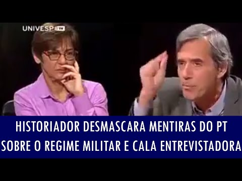 Historiador desmascara mentiras do PT sobre o Regime Militar e cala entrevistadora