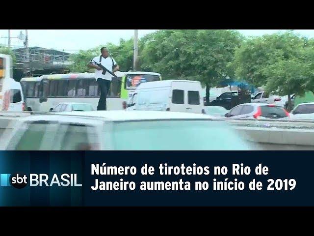 Número de tiroteios no Rio de Janeiro aumenta no início de 2019   SBT Brasil (07/03/19)