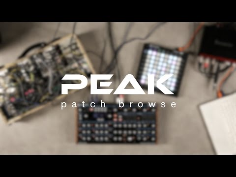 Novation // Peak - Patch Browse