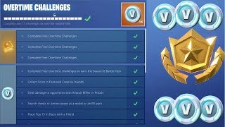 What Happens When You Get All Overtime Challenges Complete in Fortnite..