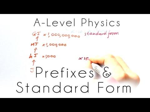 Prefixes Standard Form Gcse A Level Physics Youtube