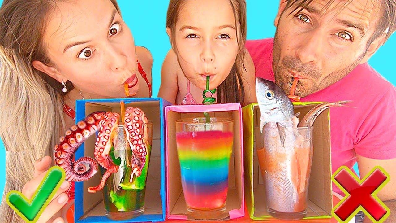 No escojas la Bebida INCORRECTA!!! Retos en Familia