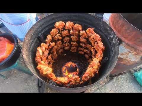 Trip to Savannakhet Laos market - Asian street food