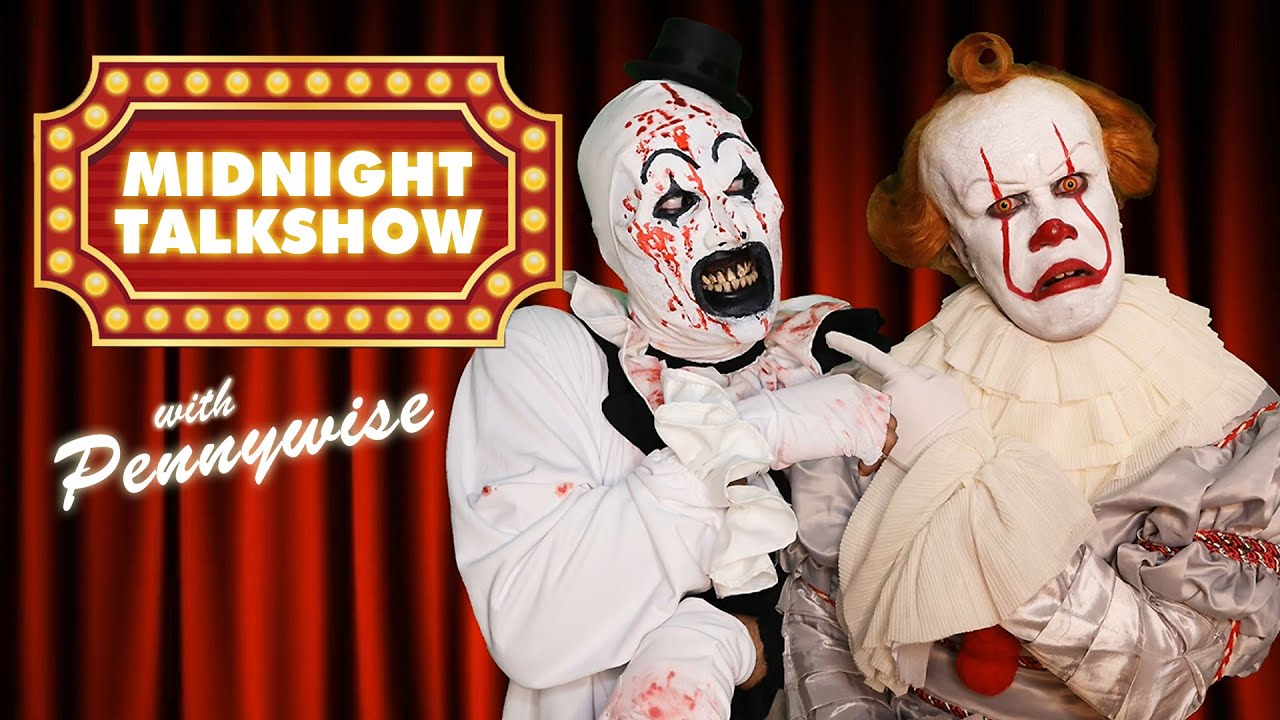 Art the Clown and Pennywise Clown Clash Gone Wrong! - Midnight Talkshow with Pennywise (EP2)