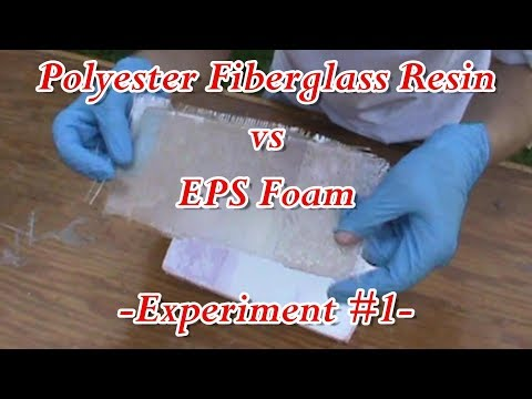 Polyester Fiberglass Resin vs EPS Foam - Experiment #1