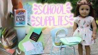 DIY School Supplies!! For Your American Girl Doll!
