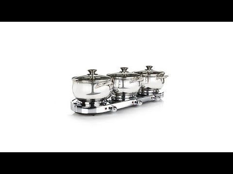 Infusion Collection 7pc TripleBurner Buffet Set