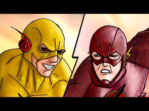 The Flash (CW) Vs. Professor Zoom Speed-Drawing