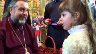 Вітання хору та недільної школи владиці Симеону з Пасхою (20.04.2014)
