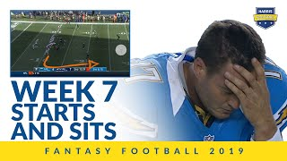Week 7 Fantasy Football Starts and Sits!
