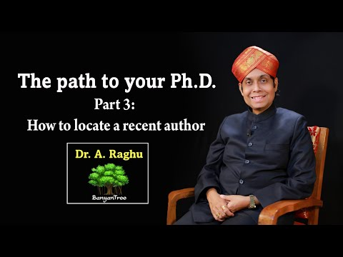 Path to your Ph.D. Part 3: How to locate a recent author