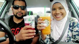 PART 2: Letting The Person In Front Of Us Decide What We Eat - Starbucks challenge|Trinidad Edition