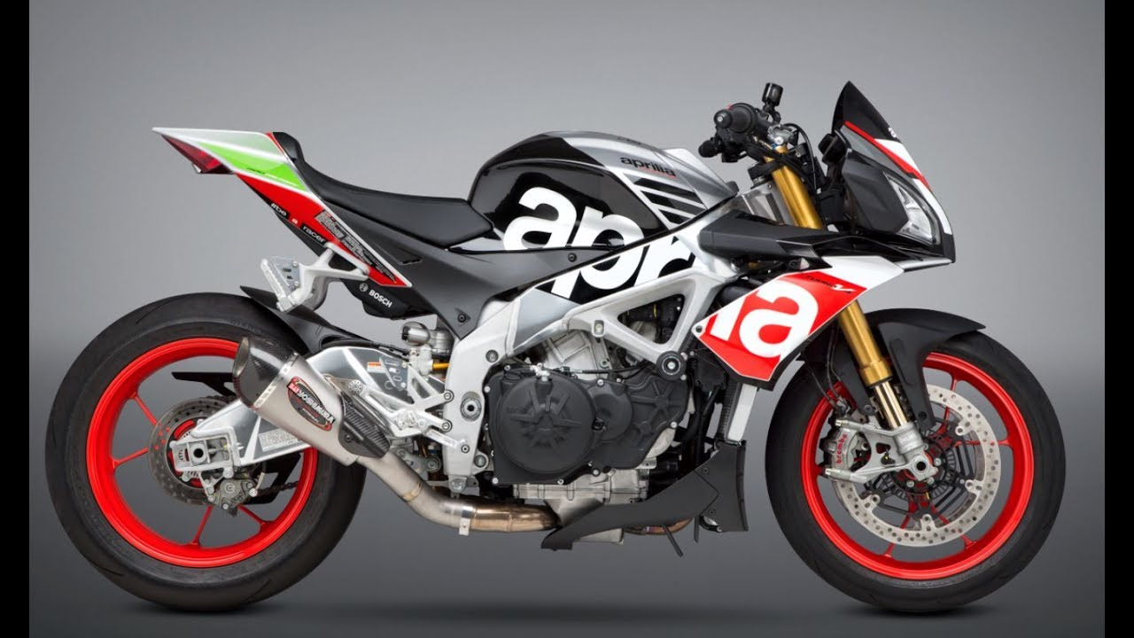 2017 Aprilia Tuono V4 sound- Stock vs  Yoshimura Alpha T Slip-on
