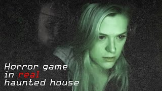 Playing A Horror Game In A Real Haunted House Challenge