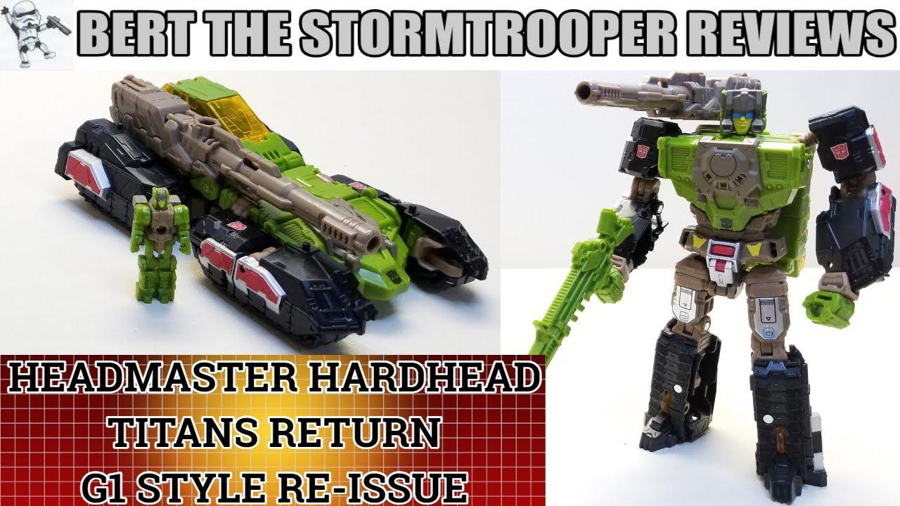 G1 style, Titans Return Headmaster HARDHEAD Review by Bert the Stormtrooper!