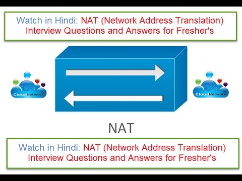 Watch In Hindi: NAT (Network Address Translation) Interview Questions And Answers For Fresher's