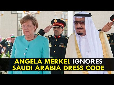 Angela Merkel ignores Saudi Arabia dress code