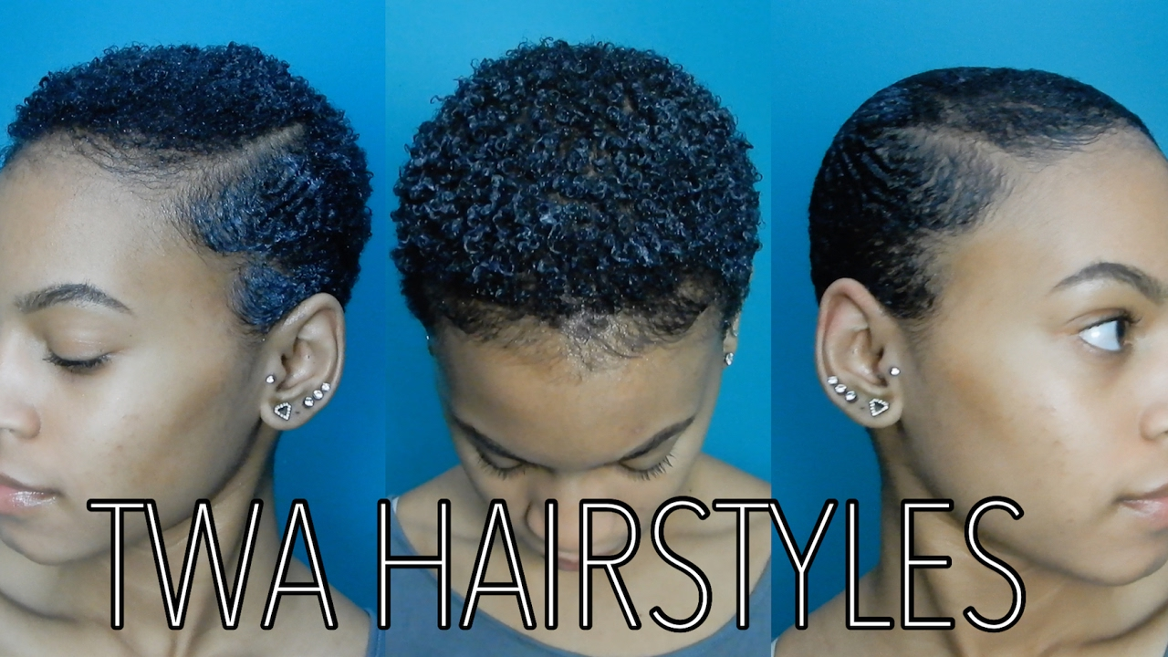 3 Easy Twa Hairstyles Youtube