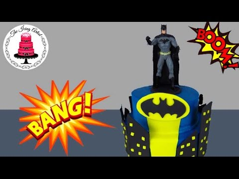 3D Gotham City Batman Birthday Cake - How To With The Icing Artist