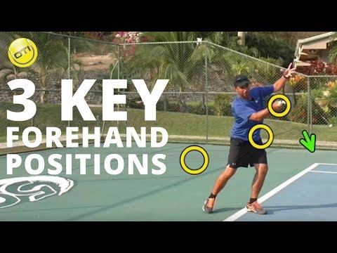 Tennis Tip: 3 Key Forehand Positions