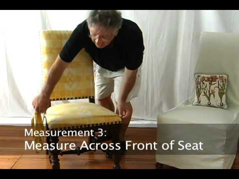 How To Measure A Dining Chair For A Slipcover U2022 Stretchandcover.com    YouTube