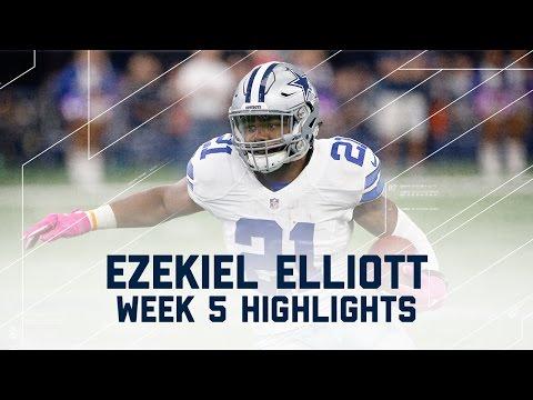Ezekiel Elliott Eats Up Bengals Defense for 171 Yards & 2 TDs! | NFL Wk 5 Player Highlights