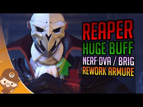 HUGE patch PTR: Buff Reaper / Nerf Dva & Brig + rework armure - Overwatch FR thumbnail