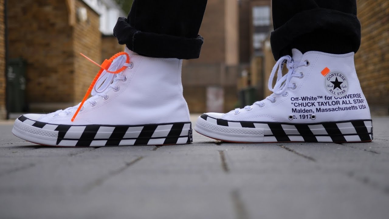 399b02dfb407e1 Converse x Off White Chuck Taylor 1970 s Hi  Optical White  Review   On Feet