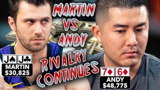 What a Flop! What a Turn!! Martin vs Andy Rivalry Continues ♠ Live at the Bike!