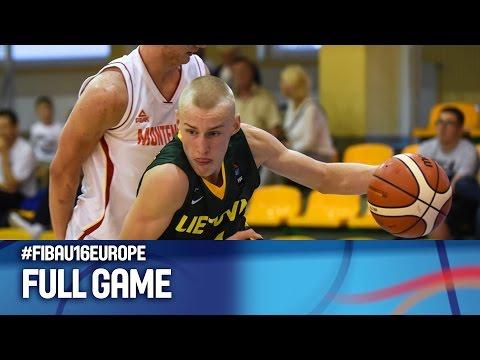 Montenegro v Lithuania - Full Game - FIBA U16 European Championship 2016