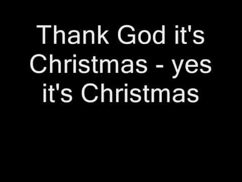 Queen - Thank God It's Christmas (Lyrics)