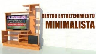 Construir Mueble de TV Living - Planos y Gráficos 3D