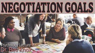 Types of Goals in Negotiation