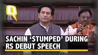 Oppn MPs Disrupt Sachin's First Speech, Rajya Sabha Adjourned | The Quint