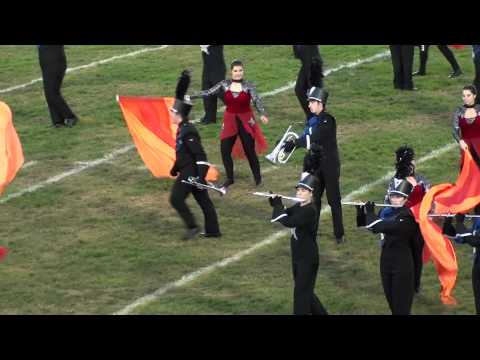 Edgewood Cougars Marching Band competition at Logan Elm High School