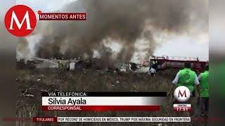 Testigo narra sobre el accidente aéreo en Durango