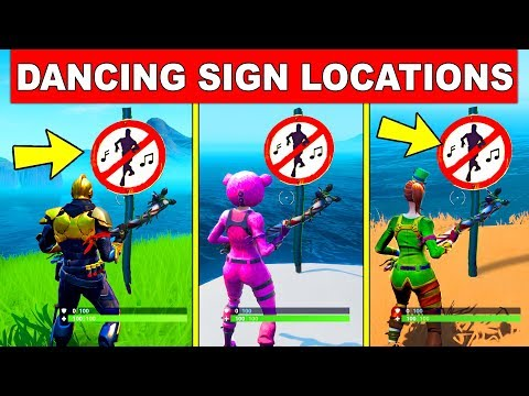 Destroy No Dancing Signs - ALL 3 LOCATIONS WEEK 6 BOOGIE DOWN CHALLENGES FORTNITE SEASON 10