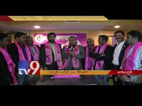 NRI TRS leaders celebrate KCR birthday in Washington - USA - TV9
