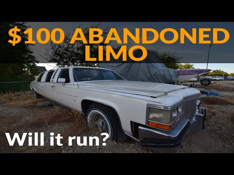 Will It Run? - $100 Abandoned Cadillac Limo - 1987 Cadillac Brougham Limousine - Olds 307 V8