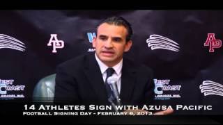 Video Azusa Pacific Football 2013 Signing Day Press Conference download MP3, 3GP, MP4, WEBM, AVI, FLV Agustus 2018