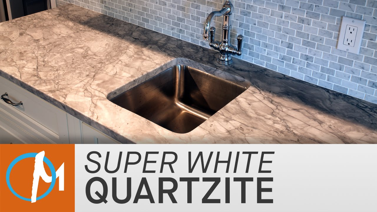 Super White Quartzite Kitchen Countertops Marble Com