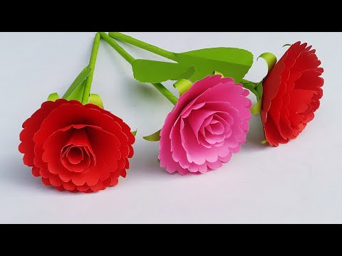 DIY Easy Paper Flower Sticks | Making Beautiful Stick Paper Flowers Step by Step Tutorial