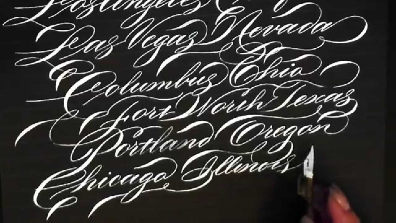 Writing City And States In Calligraphy Youtube