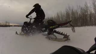 2017 Ski-doo 850 MBRP Race Can VS Stock and 800 XM MBRP Race Can