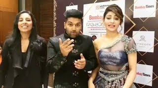 Guru Randhawa and Urvashi singing High Rated Gabru in a Fashion Event