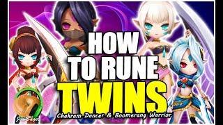 SUMMONERS WAR : How To Rune TWINS (Chakram Dancer & Boomerang Warrior)