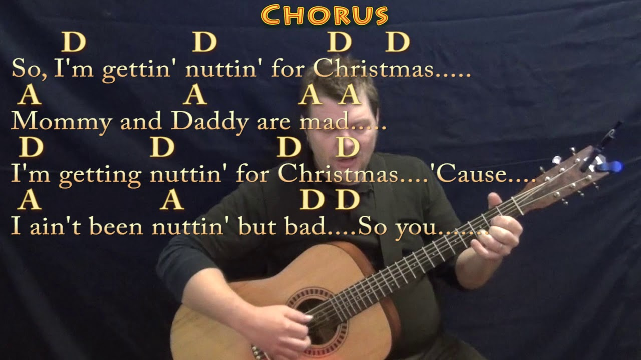 Nuttin\' For Christmas (Barry Gordon) Fingerstyle Guitar Cover Lesson ...