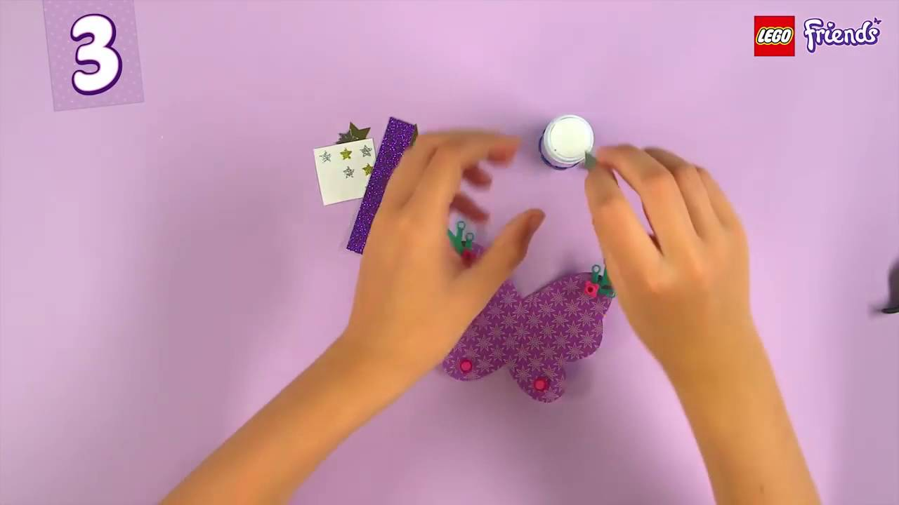 Lego Friends Crafts How To Make Your Own Butterfly YouTube