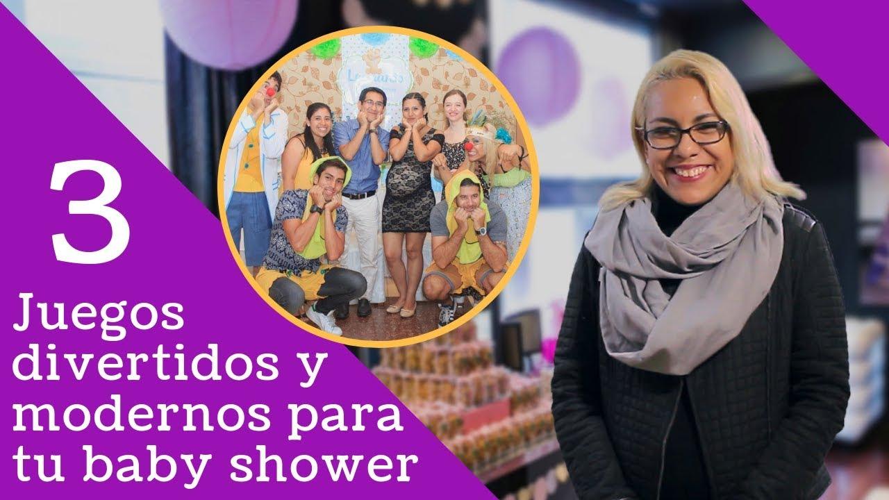3 Juegos Para Baby Shower Divertidos Y Modernos Youtube